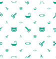 tailor icons pattern seamless white background vector image vector image