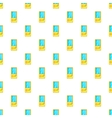 Tetris pattern cartoon style vector image