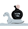 thank you quote inspirational hand written vector image vector image