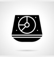 turntable mixer glyph style icon vector image vector image