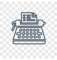 typewriter concept linear icon isolated on vector image