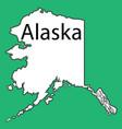 us state alaska map vector image vector image