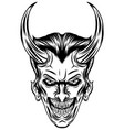 vampire with two sharp horns vector image vector image