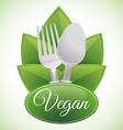 Vegan design vector image