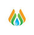 water drop eco wing abstract logo vector image vector image