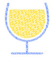 wine glass composition of dollar vector image