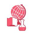 science logo emblem for scientific laboratory vector image