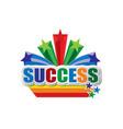 success design vector image
