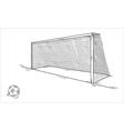 football ball and goal vector image