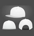 white baseball caps vector image