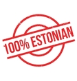 100 percent Estonian rubber stamp vector image vector image