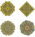 a set of beautiful celtic patterns vector image vector image