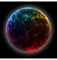 Abstract colorful sphere Futuristic techno vector image