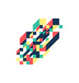 abstract modern colorful geometric isometric vector image vector image