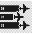 airplane flight infographic icon in transparent vector image