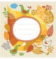 autumnal theme vector image vector image
