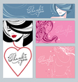 beautiful girls stars and hearts vector image vector image