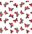 beautiful watercolor red butterfly seamless vector image vector image
