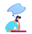businessman thinking vector image vector image