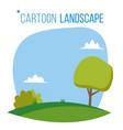 cartoon landscape background spring vector image