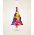 Christmas colorful hanging bell bauble vector image vector image