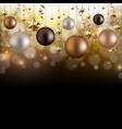 christmas garland with ball and star vector image vector image