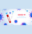 covid19 vaccine background composition vector image vector image