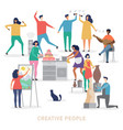 creative people characters group vector image vector image