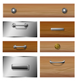Drawer front set vector image vector image