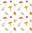 fall flat seamless pattern autumn vector image vector image