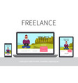 flat freelance modern concept vector image vector image