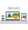 flat freelance modern concept vector image