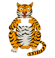 Funny Cartoon Tiger vector image vector image