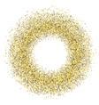 golden glittery confetti on white background vector image vector image