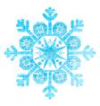 Grunge Christmas Snowflake vector image vector image