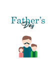 happy fathers day celebration template design vector image vector image
