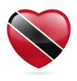 Heart icon of Trinidad and Tobago vector image vector image