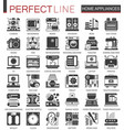 home appliances classic black mini concept symbols vector image