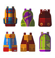 isolated bag or rucksack satchel or handbag vector image vector image