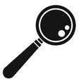 lab magnify glass icon simple style vector image vector image
