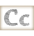 letter c filled by business words vector image