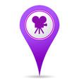 location cinema icon vector image