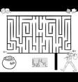 maze activity game with wanderer vector image vector image