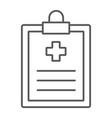 medical record thin line icon hospital medicine vector image vector image