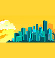 metropolis abstract city vector image vector image