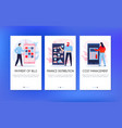 mobile banking banners set vector image vector image