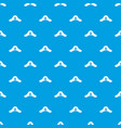 pirate hat pattern seamless blue vector image vector image