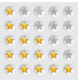 Rating stars in circles vector image vector image