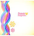 Round candy rainbow colors sweets background vector image vector image