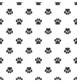 seamless pattern animal foot background vector image vector image
